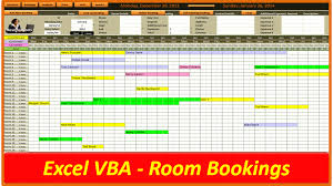 excel room booking system online pc learning