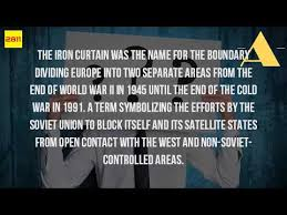 Who Coined The Phrase The Iron Curtain What Was The Iron Curtain Youtube