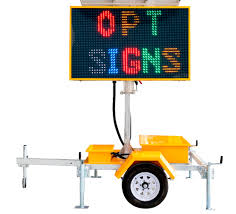 Solar Sign Lights Outdoor by Opt Vms 400 3 Outdoor Led Digital Sign Board 5 Color Led Field