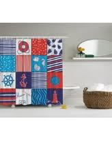 Navy And Red Shower Curtain Striped White Shower Curtains Bhg Com Shop