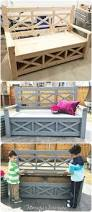 Diy Outdoor Storage Bench Plans by 50 Diy Pallet Furniture Ideas Couch Dining Table Outdoor
