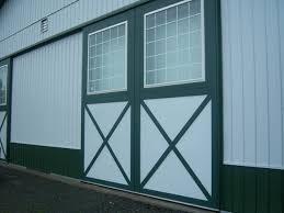 Pole Barn Door Hardware by Post Frame Building Door Options Conestoga Buildings