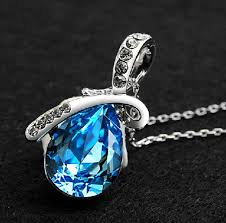 crystal drop pendant necklace images Rhinestone crystal water drop pendant necklace php