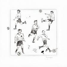 football player pen sketch hartdeco