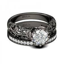black wedding sets wedding rings wedding rings
