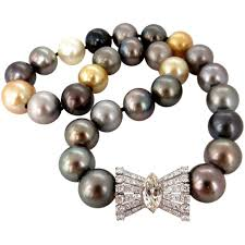 pearl necklace diamonds images Gia certified natural tahitian pearl necklace 4 00ct diamonds jpg