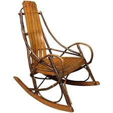 Antique Pressed Back Rocking Chair Vintage American Adirondack Rocking Chair 1920s For Sale At 1stdibs
