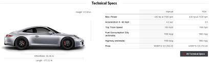 porsche 4 specs 911 4 gts tested 424 horsepower naturally aspirated