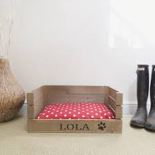 Shabby Chic Dog Beds by Personalised Wooden Pet Bed Dog Cat Bed Apple Crate Handmade