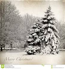 retro card with christmas winter landscape royalty free stock