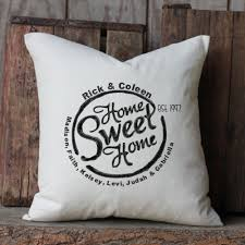 wedding pillows home sweet home family wedding pillow personalized