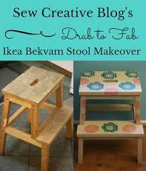 ikea step stool rroom me from drab to fab ikea bekvam stool makeover sew creative blogsew