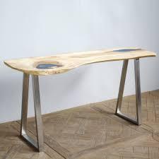 pieds de bureau design gracieux pieds de table design bureau bois suar meuble
