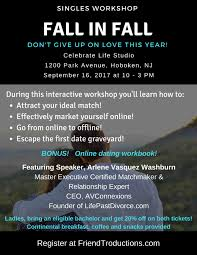 in fall fall in fall singles workshop vip int u0027l executive matchmaking
