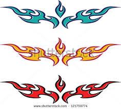 fire flame heart tattoo design stock vector 123002440 shutterstock