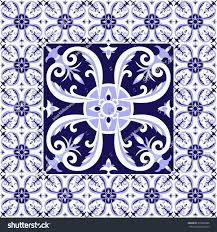 Tile Floor In Spanish by Arabic White Blue Tiles Floor Pattern Stock Vector 576366289
