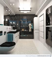 20 sleek ideas for modern black and white bathrooms home design