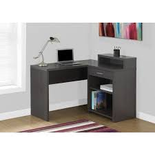 Corner Desk Overstock Grey Corner Computer Desk With Storage Free Shipping Today