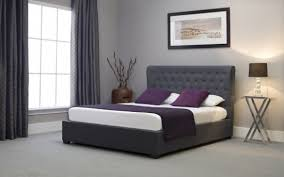 king size ottoman bed frame emporia kensington 5ft kingsize grey fabric ottoman bed kngy50