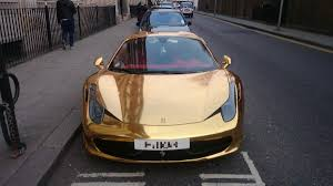 cars ferrari gold riyadh al azzawi u0027s gold ferrari turns heads in kensington