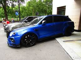 bentley london bentley bentayga by mansory smurfs out london