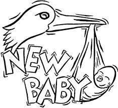 stork brings baby coloring free printable coloring pages