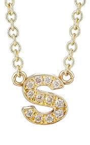 Intial Necklace Jennifer Meyer Initial Necklace Barneys New York