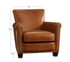 small leather chair with ottoman irving leather armchair with nailheads large chair small condo