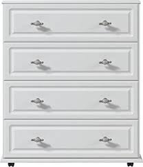 White  Drawer Chest Of Drawers Ready Assembled Oakland Modern - Ready assembled white bedroom furniture