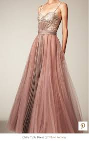 dusty wedding dress chilla tulle gown by white runway dusty pink dresses