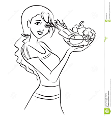 woman and healthy dish with vegetables stock photo image 34628570