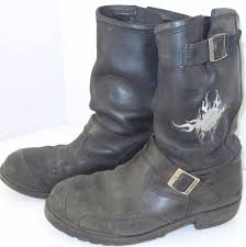 harley boots harley davidson logger conductor riding boots distressed leather