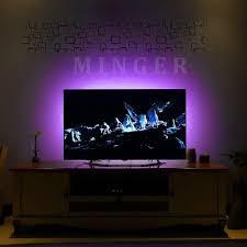 buy minger usb tv led strip light for tv 5050 flexible rgb tv led