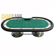 quality deluxe poker table with silver round legs manufacturers