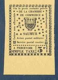 chambre de commerce saumur série complète de 3 vignettes saumur 1953 villers collections