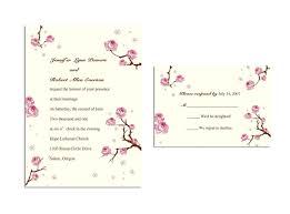 Cherry Blossom Wedding Invitations Love Plum Wedding Invitations Ins092 Ins092 0 00 Invitation