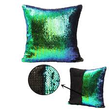 Turquoise Home Decor Accessories by 40x40cm Mermaid Magical Color Change Fashion Fabrics Sequin Pillow