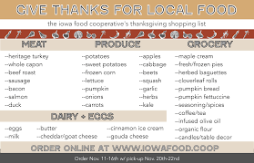 the local thanksgiving pledge iowa food cooperative iowa food