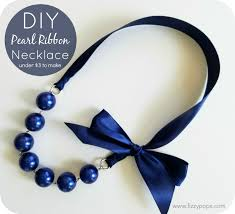 ribbon necklace images Diy pearl ribbon necklace tutorials 2 styles fizzy pops jpg