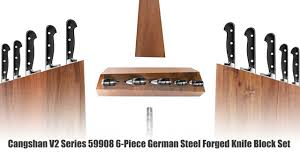 cangshan v2 series 59908 6 piece german steel forged knife block