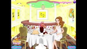 barbie restaurant decoration games coffee time barbie decoration