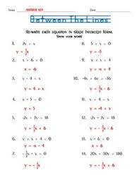 this is a 15 question puzzle on finding the point slope equation