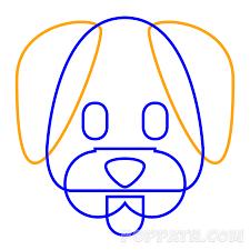 how to draw a dog emoji u2013 pop path