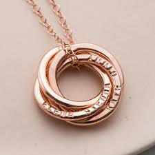 rose gold ring necklace images Personalised four ring russian necklace by posh totty designs jpg