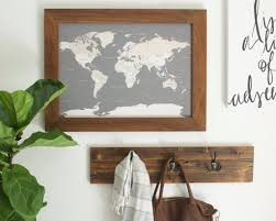 Map With Pins Walnut Small World Map With Pins Only Countries 17x24 U2013 Wayfaren