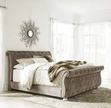 American Woodcrafters Cassimore Pearl Silver King Upholstered Bed Beds Bedroom