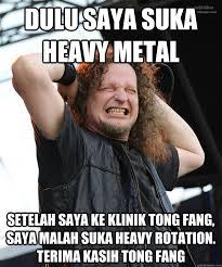 Heavy Metal Meme - tong fang heavy metal memes quickmeme