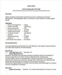 Media Resume Sample by 7 Social Media Resumes Free Samples Examples Formats Download