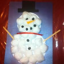 cotton ball snowman you pinspire me