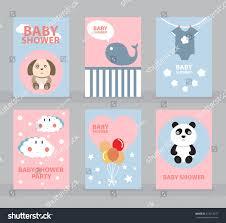 Birthday Cards Invitation Templates Baby Shower Invitation Template Greeting Card Stock Vector